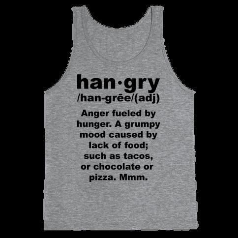 Hangry Definiton Tank Top