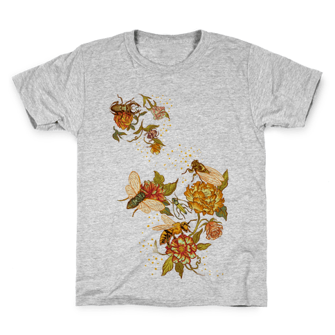 Florals & Insects Kids T-Shirt