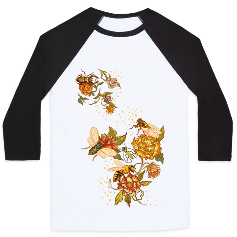 Florals & Insects Baseball Tee