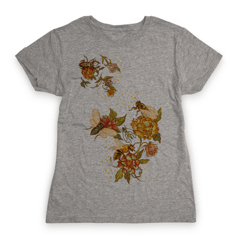 Florals & Insects Womens T-Shirt