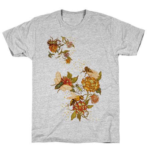 Florals & Insects Mens T-Shirt