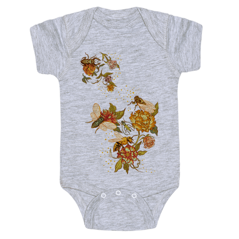 Florals & Insects Baby Onesy