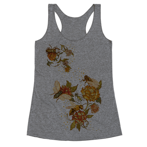 Florals & Insects Racerback Tank Top