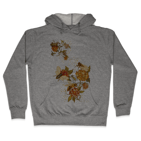 Florals & Insects Hooded Sweatshirt