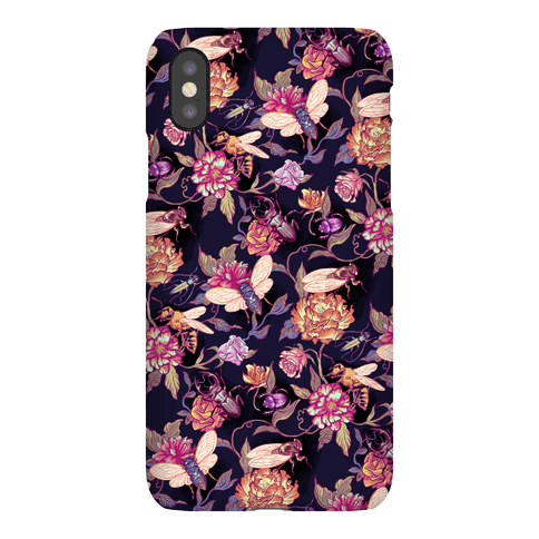 Florals & Hidden Insects Phone Case