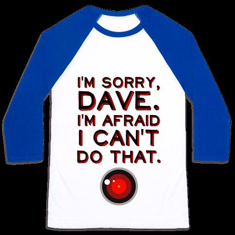 HAL 9000 Quote Baseball Tee