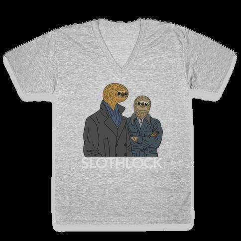 Slothlock V-Neck Tee Shirt