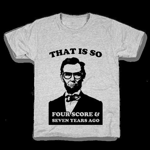 Hipster Abe (tank) Kids T-Shirt
