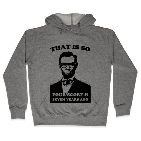 Hipster Abe (tank) Hooded Sweatshirt