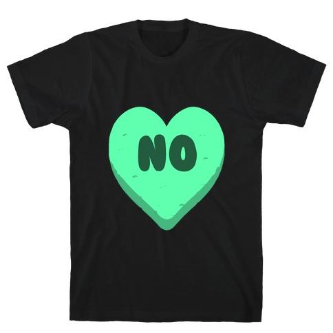 Valentine's Day Heart No T-Shirt