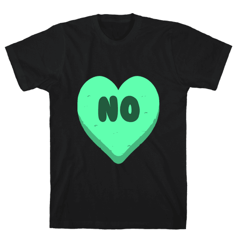 Valentine's Day Heart No Mens T-Shirt