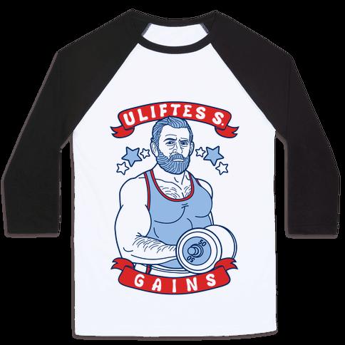 Uliftes S. Gains Baseball Tee
