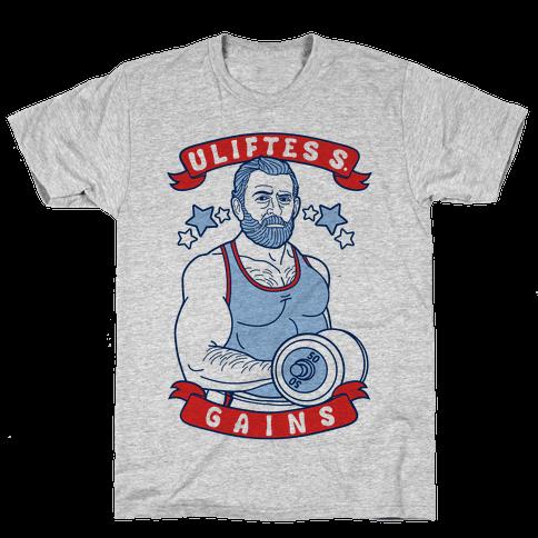 Uliftes S. Gains Mens T-Shirt