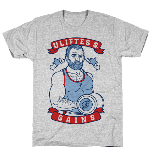 Uliftes S. Gains Mens T-Shirt
