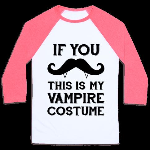 This Is My Vampire Costume Baseball Tee