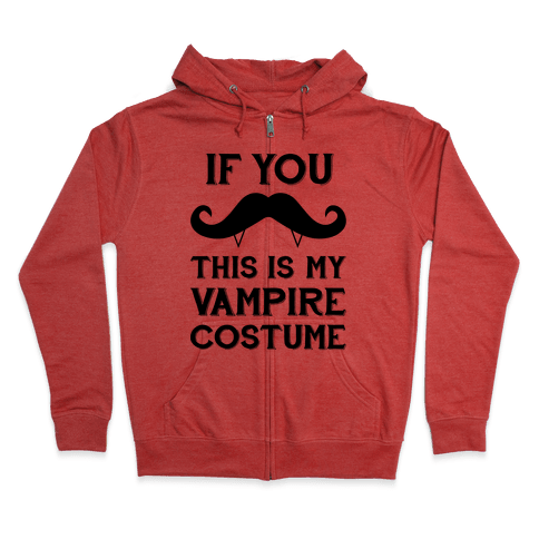This Is My Vampire Costume Zip Hoodie