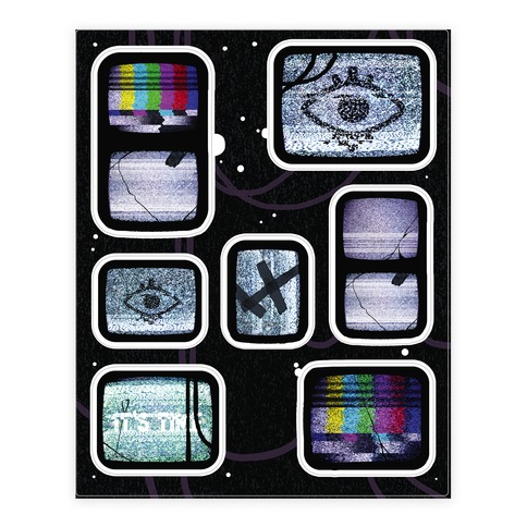 Static Tv Sticker Set Sticker and Decal Sheet