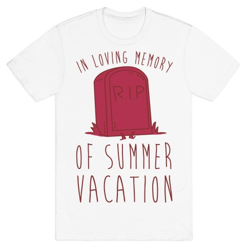 In Loving Memory Of Summer Vacation Mens T-Shirt