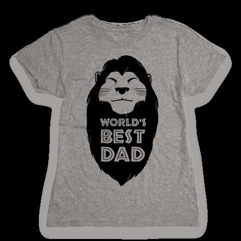 World's Best Dad (Mufasa) Womens T-Shirt