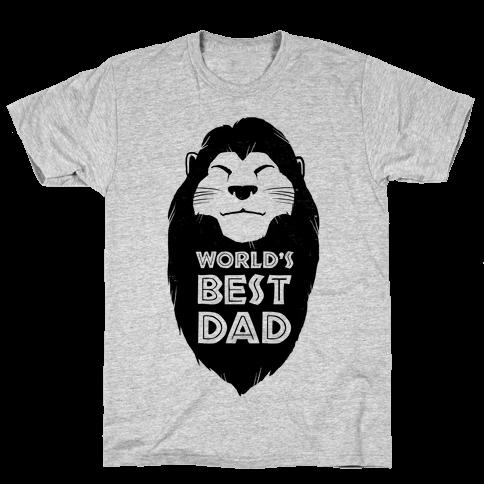 World's Best Dad (Mufasa) Mens T-Shirt