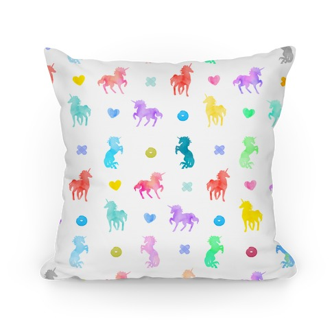 Simple Unicorn Pattern Pillow