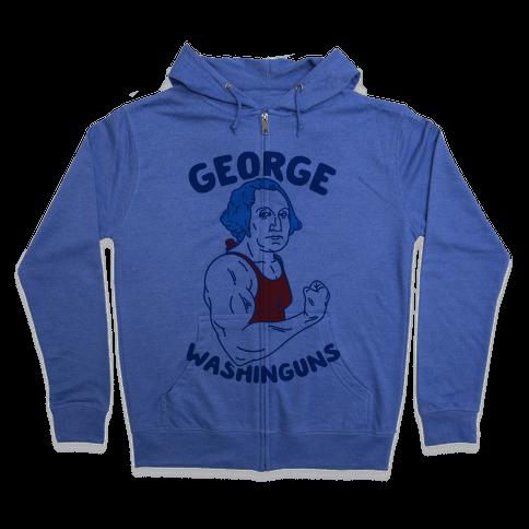 George WashinGUNS Zip Hoodie