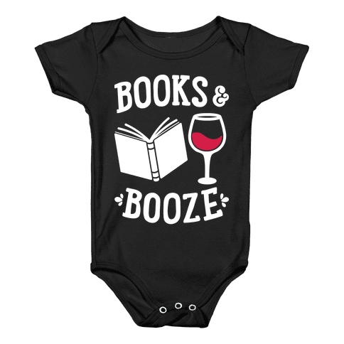 Books & Booze Baby Onesy