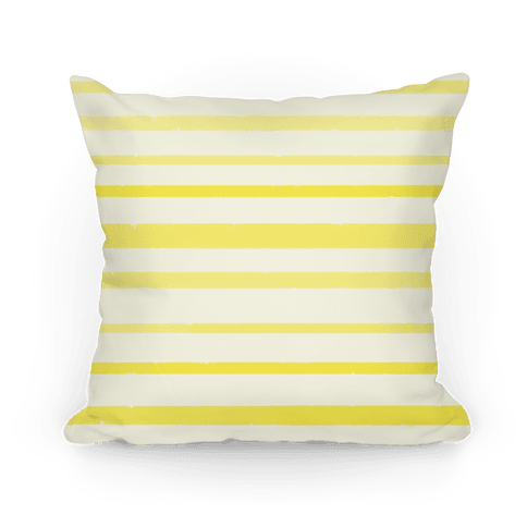 Yellow Watercolor Stripe Pattern Pillow