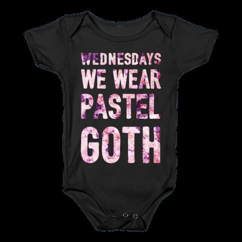 Wednesdays We Wear Pastel Goth Baby Onesy