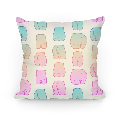 Kawaii Pastel Butt Pattern Pillow