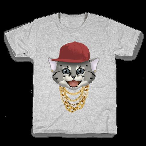 Gucci Links, Gangsta Cat Kids T-Shirt