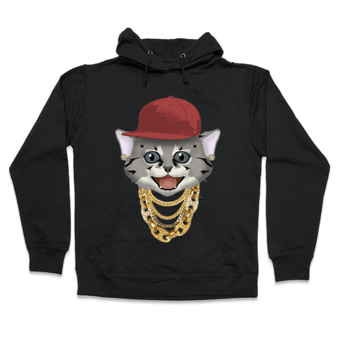 Gucci Links, Gangsta Cat Hooded Sweatshirt