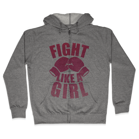 Fight Like A Girl Zip Hoodie
