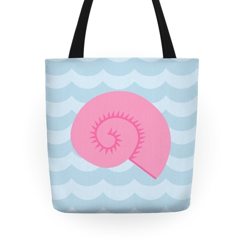 Seashell and Waves Tote