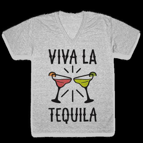 Viva La Tequila V-Neck Tee Shirt