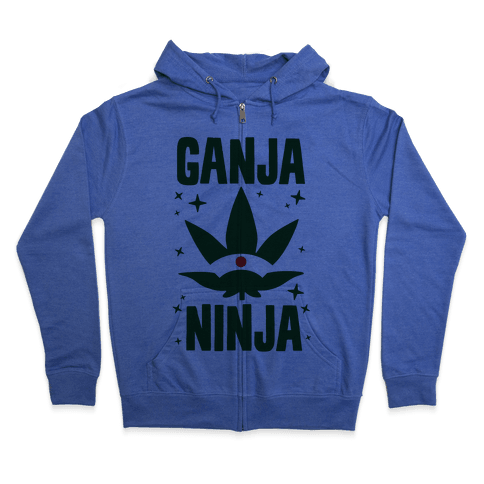 Ganja Ninja Zip Hoodie