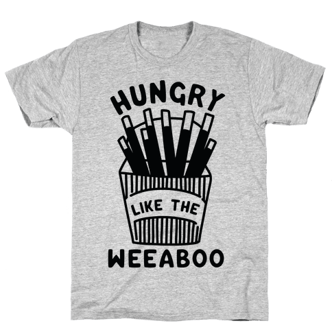 Hungry Like The Weaboo Mens T-Shirt