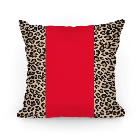 Leopard and Red Pillow Pillow