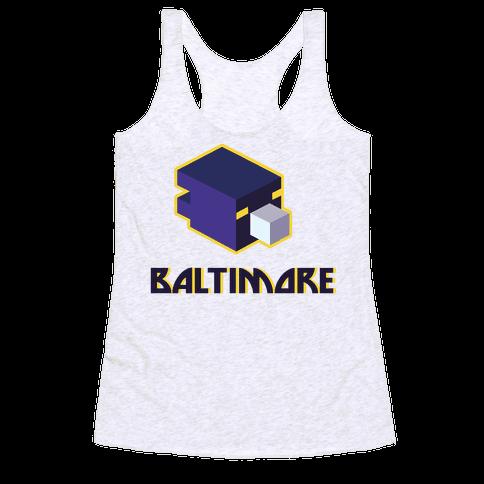 Baltimore Blocks Racerback Tank Top