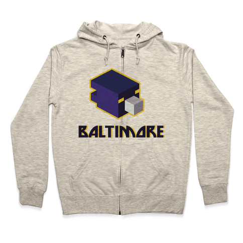 Baltimore Blocks Zip Hoodie