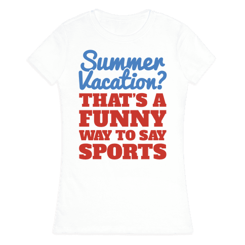 Summer Sports Womens T-Shirt