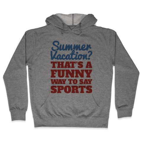 Summer Sports Hooded Sweatshirt