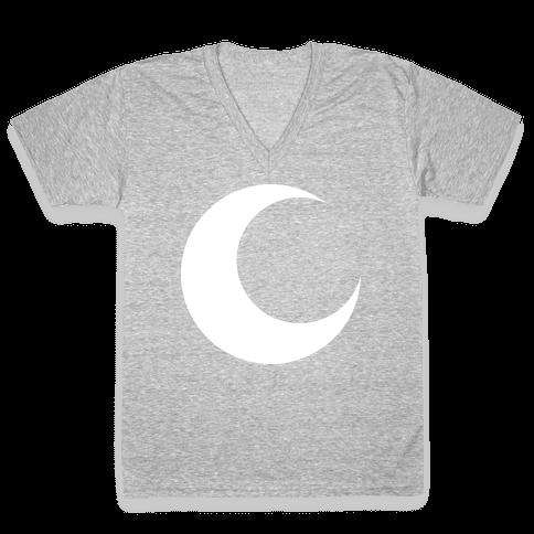 Moon Knight Logo V Neck Tee Lookhuman