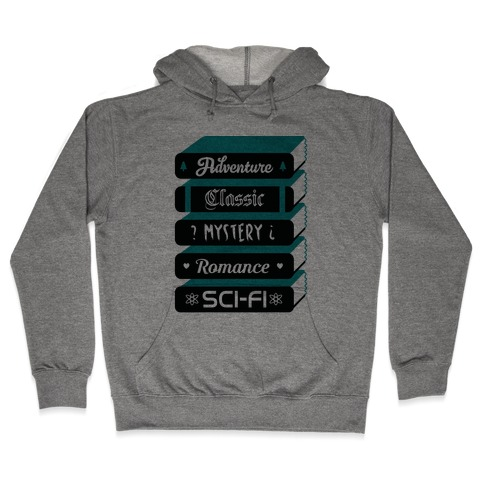 Book Stack Hooded Sweatshirt