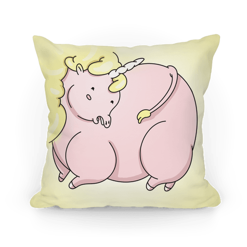 Fat Unicorn Pillow