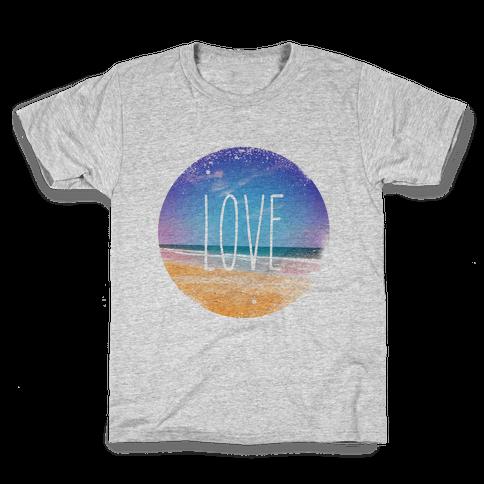 Love (The Beach) Kids T-Shirt