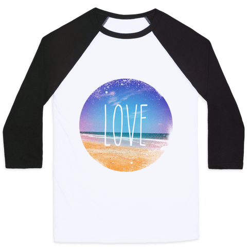 Love (The Beach) Baseball Tee