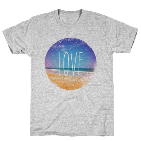Love (The Beach) Mens T-Shirt