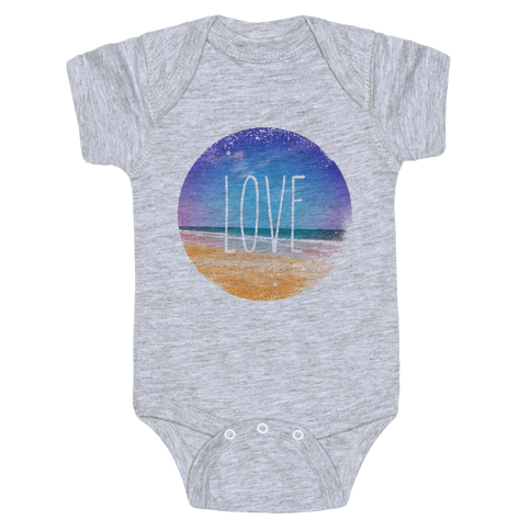 Love (The Beach) Baby Onesy