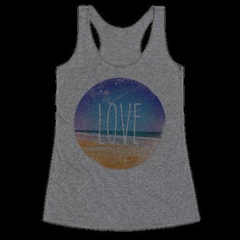 Love (The Beach) Racerback Tank Top